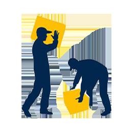 کارگر باربری و بسته بندی